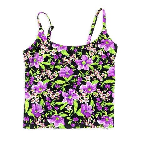 Island Escape Womens Tropical Tankini Swim Top