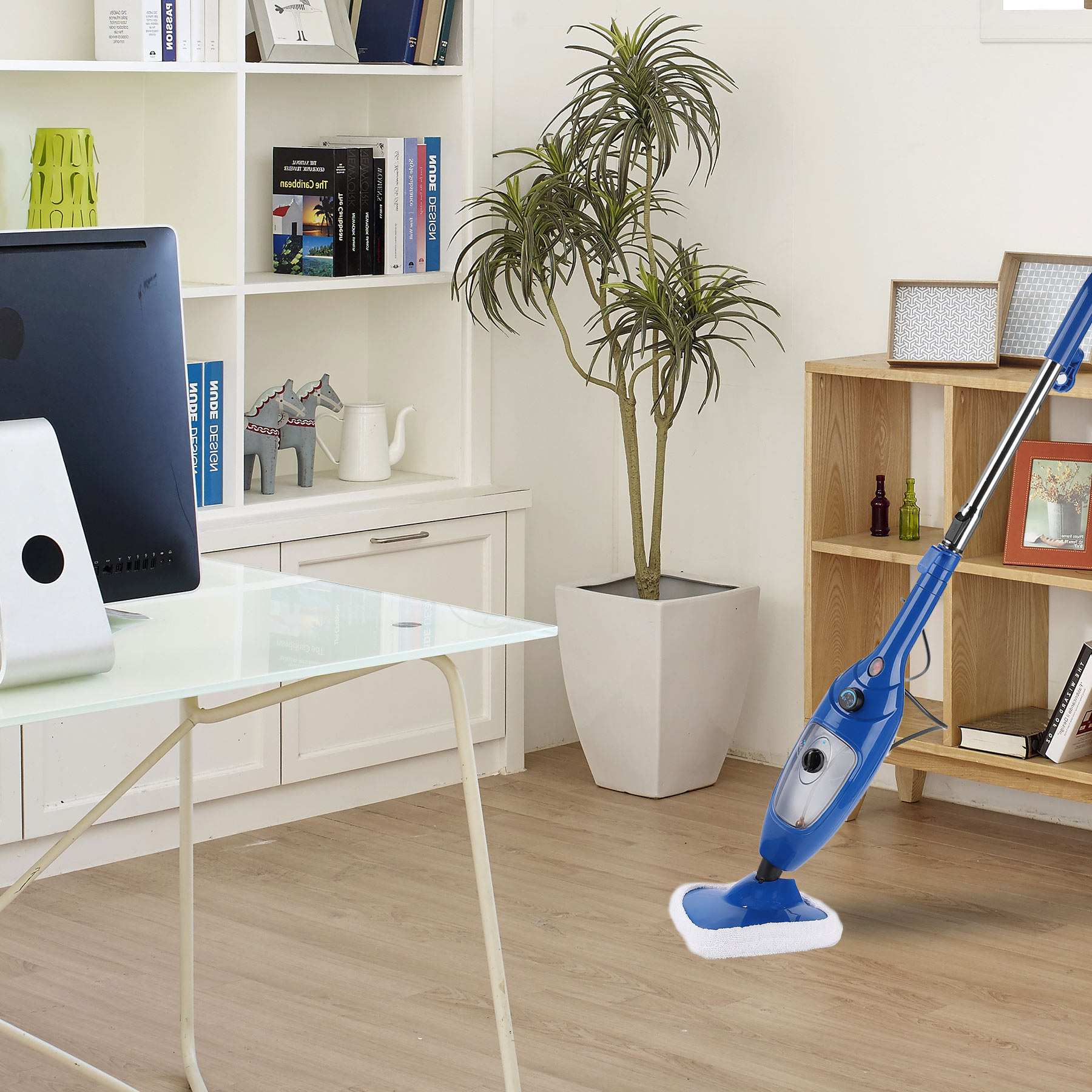Steam Mop for Floor Cleaning with 16FT Cord 12Oz Water Tank