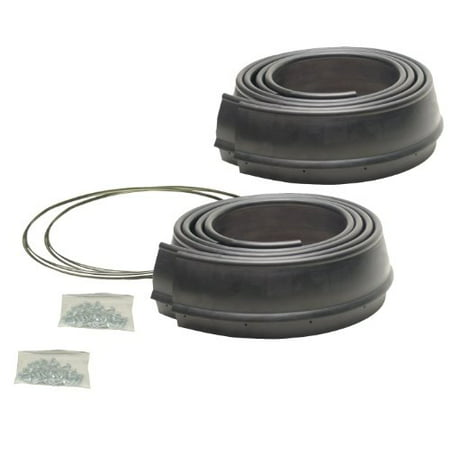 Rubber Fender Extension (Pacer Performance 52-189 Flexy Flares Black 2-1/2