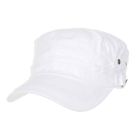922a269eb5416 WITHMOONS Cadet Cap Cotton Vintage Distressed Washed Hat CR4267 (White) -  Walmart.com