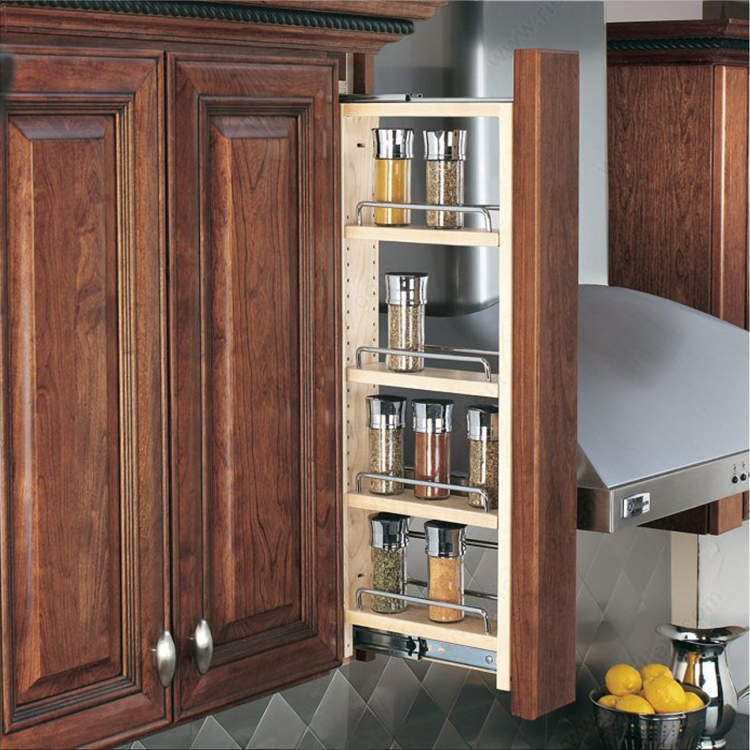 "Rev-A-Shelf Wall Filler Pullout Organizer, 3"" Wide x 36"" Tall"