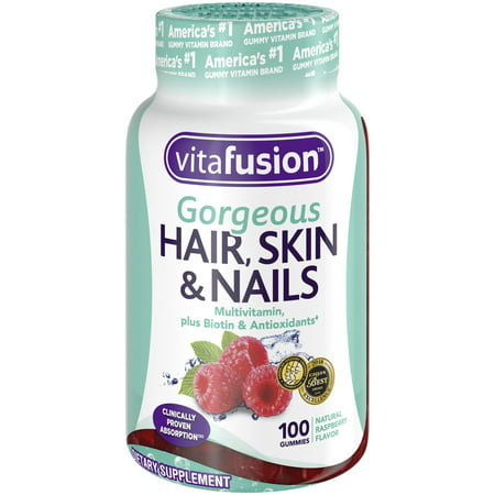 Vitafusion Gorgeous Hair, Skin & Nails Multivitamin Gummy Vitamins, 100ct