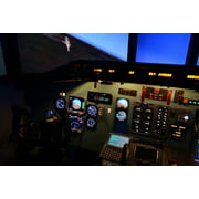 Canvas Print The Cockpit Aviation Dc 9 Simulator The Md-80 Stretched Canvas 10 x 14