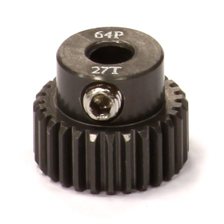- Integy RC Toy Model Hop-ups C24272 Billet Machined Hard Anodized Aluminum 64 Pitch Pinion 27 Teeth for 0.125 Shaft