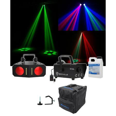 Chauvet DJ Duo Moon Moonflower/Strobe Effect Light+Clamp+Bag+LED Fog Machine (Strobe Light Machine)