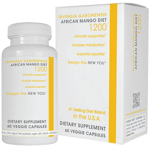 African Mango 1200 Dietary Supplement Capsules, 60ct