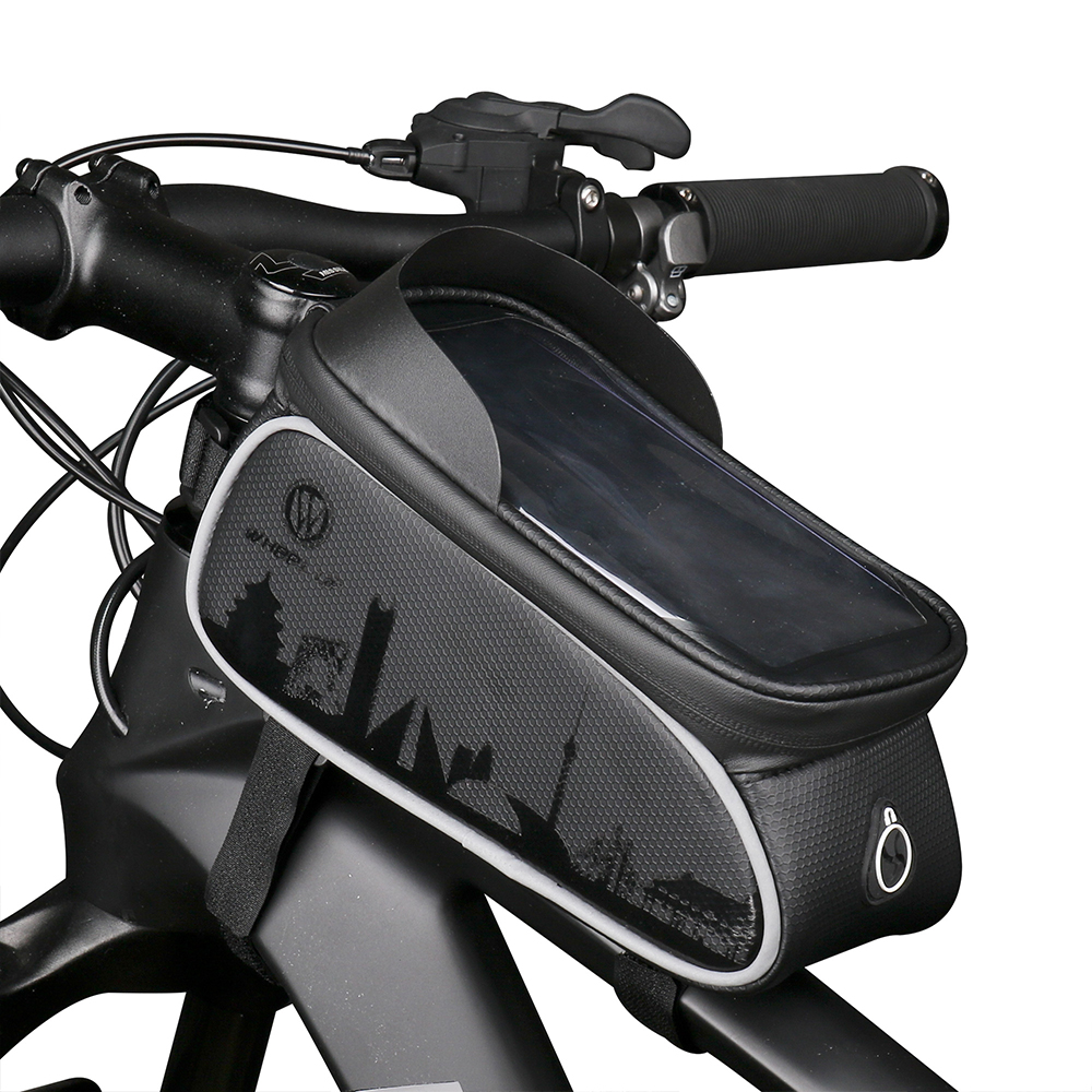 Details about  /Bicycle Front Beam Waterproof Mountain Bike Saddle Bags Phone Tools Storage Bag