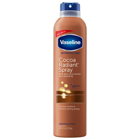 Vaseline Intensive Care Cocoa Radiant Spray Lotion, 6.5 oz Care Products Gel Body Lotion
