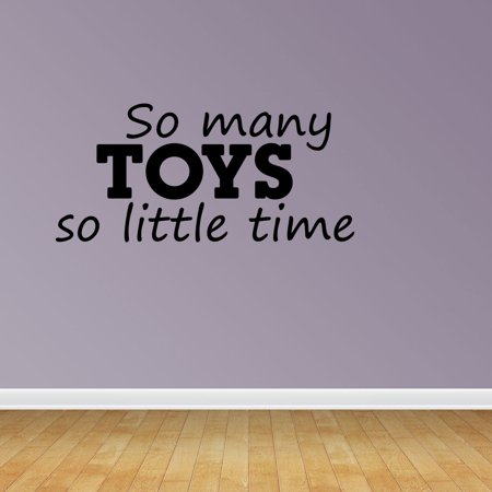 So Many Toys Playroom Decal Vinyl Wall Decals Kids Room Quote JP170 (Kids Playroom Wall Decals)