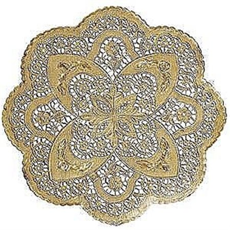 Gold Doilies - Large Gold Embossed Doilies by Amscan - Gold Doilies
