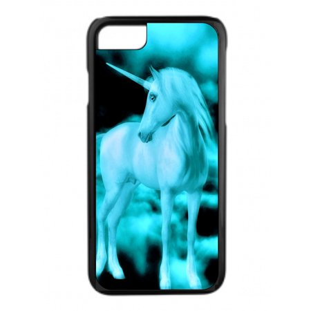 Blue Unicorn in the Clouds Design Black Plastic Phone Case That Is Compatible with the Apple iPhone 6 / 6s