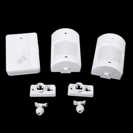 WALFRONT Détecteur de mouvement Wireless Alert Secure System Alarme de sonnette pour entrée de maison, garage de surveillance blanc, détecteur de mouvement, alarme d'allée de sécurité pour la - image 2 de 2