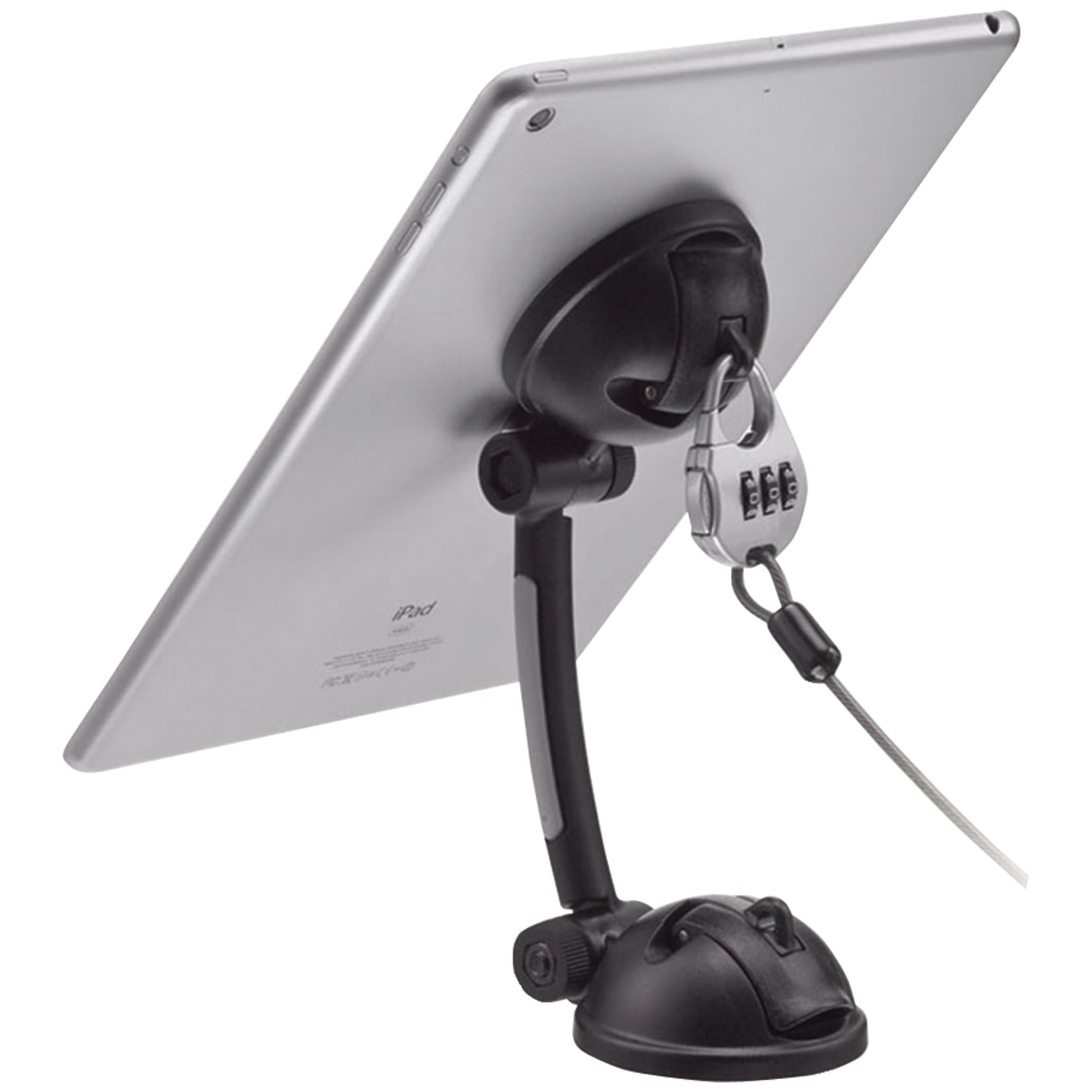 CTA Digital PAD-SMT Suction-Mount Stand with Theft-Deterrent Lock for Tablet/Smartphone