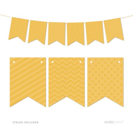 Deep Yellow Hanging Pennant Banner Party Garland Decor