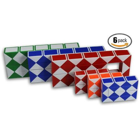 24d89991ff795 Magic Snake Cube Twist Puzzle Bundle of 6! 3 Mini Cubes and 3 Large Cubes  (Bundle 6 Pack) …