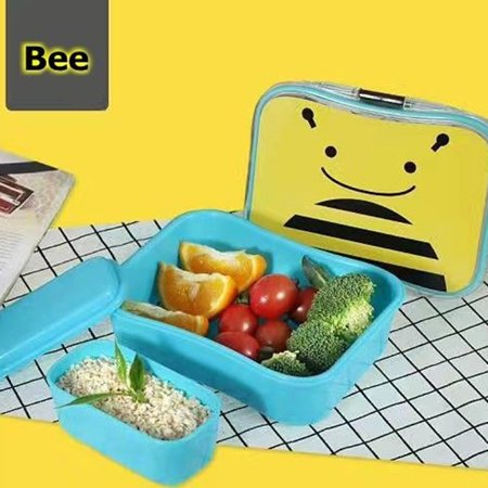 Cute Creative Kids' Bento Box Cartoon Dinner Pail Food Snack Fruit Container Detachable Tableware Present for Birthday Festival - Halloween Dinner Food For Kids