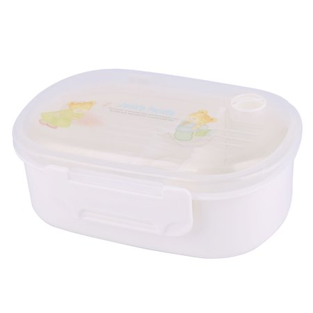oval shaped 2 compartments tableware food bento lunch bowl container box. Black Bedroom Furniture Sets. Home Design Ideas