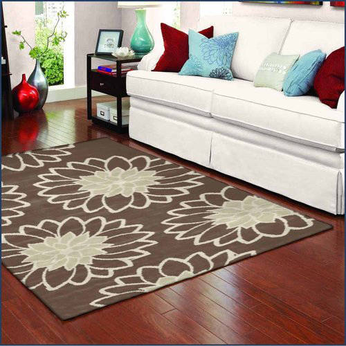 Spaces Home and Beyond Chrysanthemum Brown Accent Rug