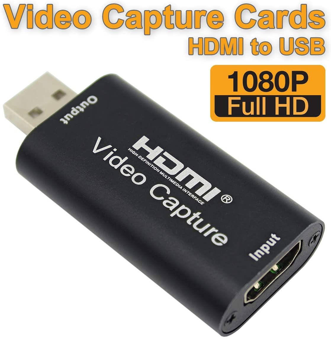 Streaming Video Capture Card Vilcome Video Audio HDMI to USB Record Card Live Broadcasting and Facebook Portal TV Record Full HD 1080p USB 2.0 Record via DSLR Camcorder Action Cam for Video Gaming