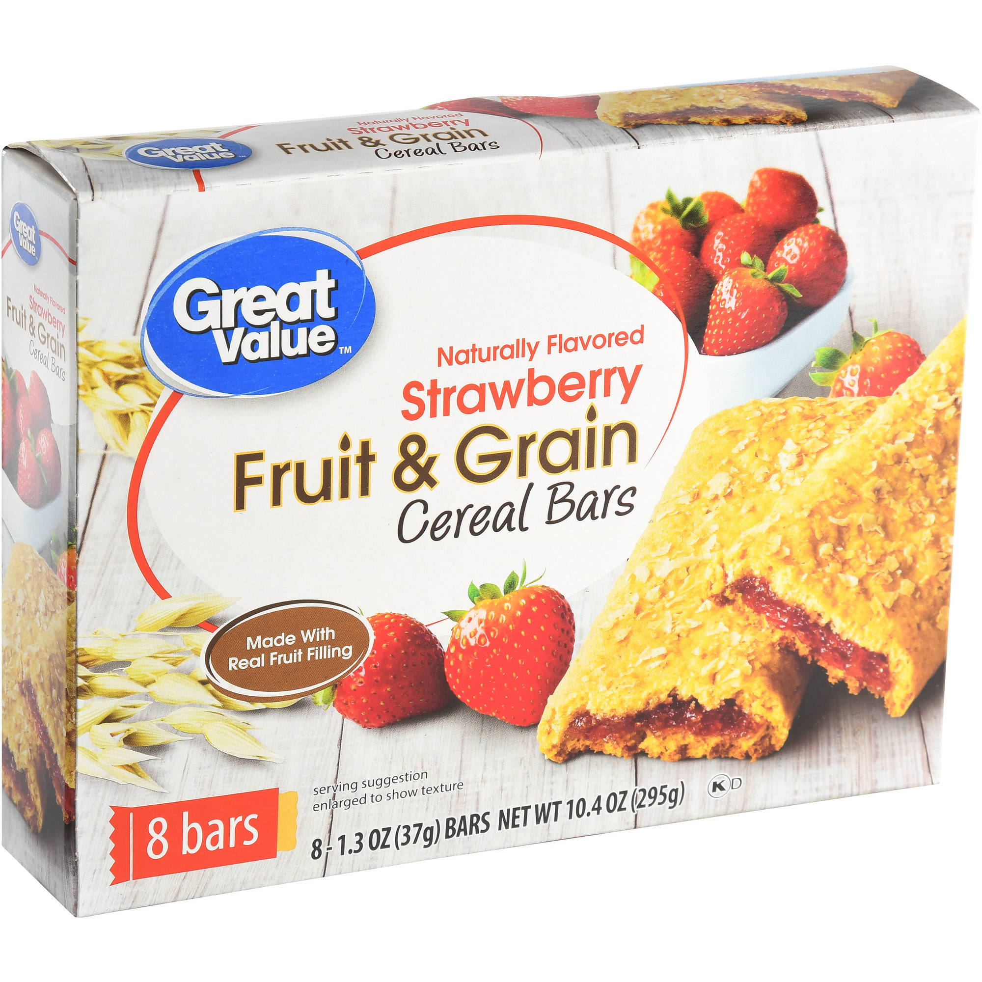 Great Value Strawberry Fruit & Grain Bars, 10.4 oz