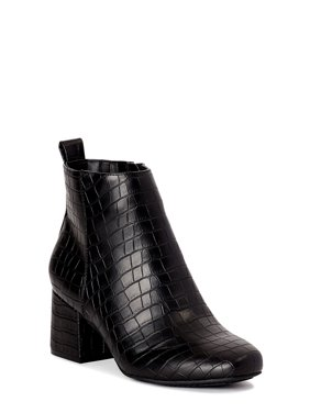 Time and Tru Block Heel Bootie (Women's)