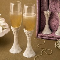 Fairytale Design / Cinderella Theme Flute Champagne Set Of Two Toasting Glasses 1 set of 2 glasses