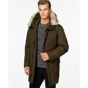 Calvin Klein Faux-Fur Hooded Jacket Loden XXL CM504438