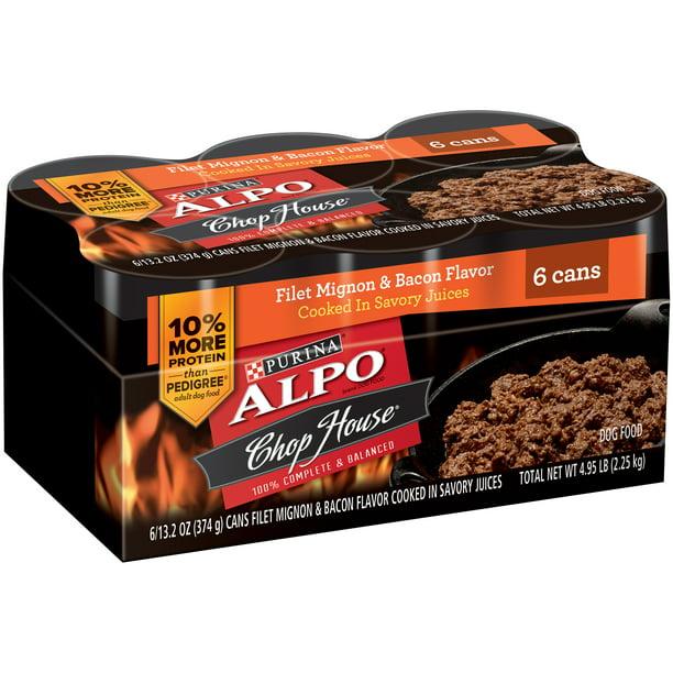 ALPO Chop House Filet Mignon & Bacon Flavors Canned Dog ...
