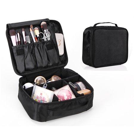 b910725df80b Portable Makeup Train Case Makeup bag Cosmetic Organizer Case,Pink ...