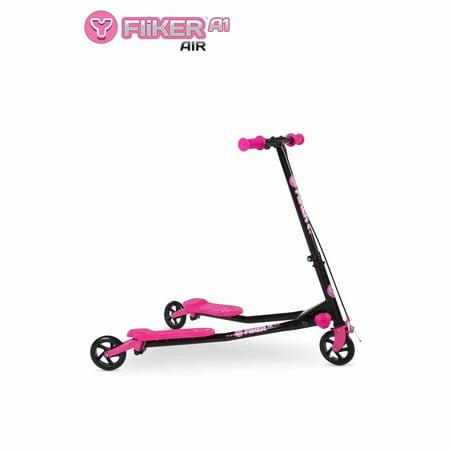 Y Fliker Scooter >> Yvolution Y Fliker A1 Air Scooter, Black/Pink - Walmart.com