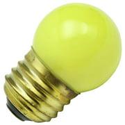 Halco 07028 - S11YEL7.5C Standard Screw Base Colored Scoreboard Sign Light Bulb