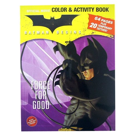Batman Force for Good Coloring And Activity Book with Temporary Tattoos (Scarecrow Batman Tattoo)