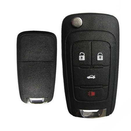 New Replacement Keyless Entry Remote Flip Key Shell 4B for GM ()