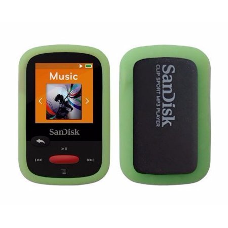 Green Rubber Soft Silicone Skin Cover Case for SanDisk SDMX24 Sansa Clip Sport 4GB 8GB