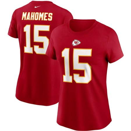Patrick Mahomes Kansas City Chiefs Nike Women's Name & Number T-Shirt - Red