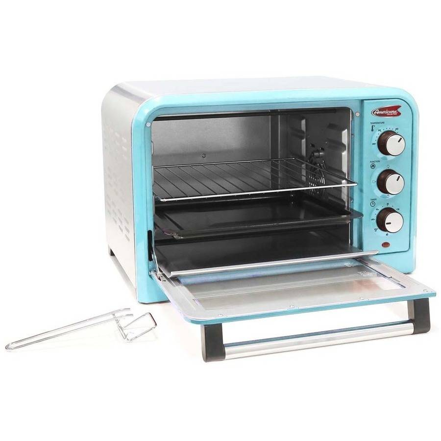 Americana by Elite ERO-2600BL 6-Slice/26L Retro Toaster Oven, Blue