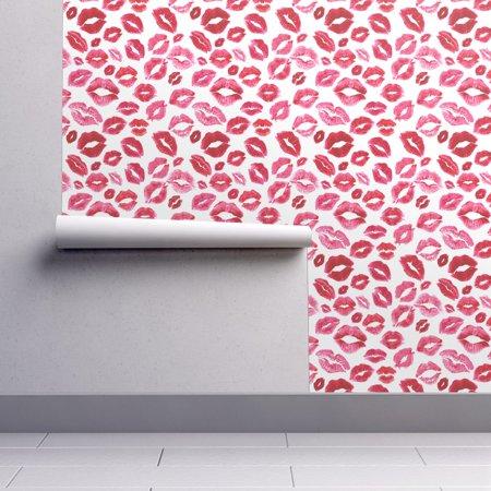 Wallpaper Roll or Sample: Love Valentine Beauty Lipstick Kisses Xoxo Lips
