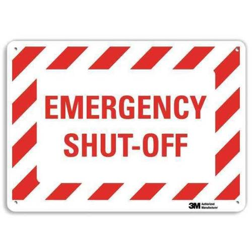 LYLE U7-1060-RA_14X10 Safety Sign, Reflective Alum, 10inHx14inW