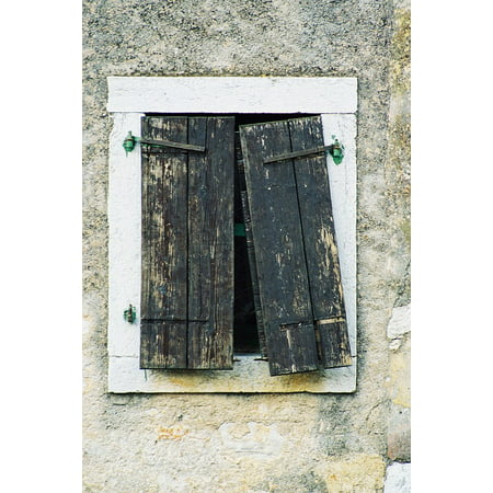 LAMINATED POSTER Wooden Old Grunge Wood Window Frame Architecture Poster Print 24 x 36 - Wooden Poster Frames