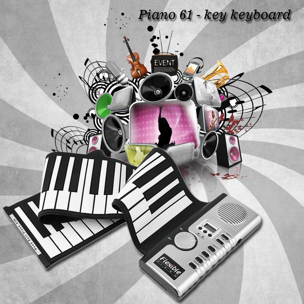 61 Keys Universal Flexible Roll Up Electronic Piano Soft ...