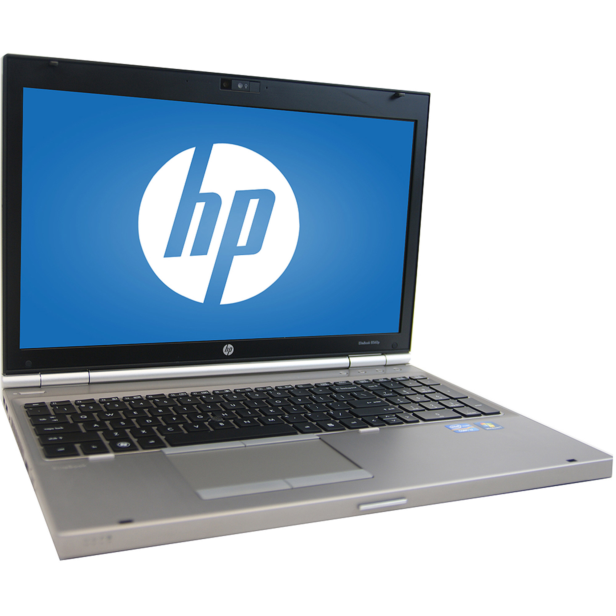 "Refurbished HP Silver 15.6"" 8560P Laptop PC with Intel Core i7 Quad-Core Processor, 4GB Memory, 128GB SSD and Windows 7 Professional"