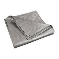 ALEKO TR16X16SL 16' x 16' Heavy-Duty Tarp Multi-Purpose All-Weather Polyethylene Tarpaulin, Silver