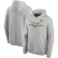 Oakland Athletics Nike Color Bar Club Pullover Hoodie - Gray