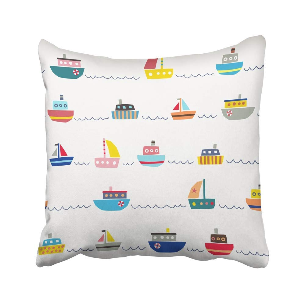 Cmfun Boat With Cute Color Ships Drawing Nautical Sea Abstract Baby