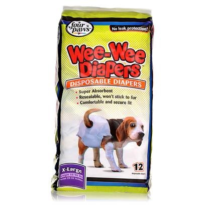 Four Paws Wee-Wee Extra Large Disposable Doggie Diapers, 12 Count