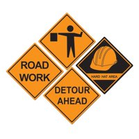The Beistle Company 4 Piece Construction Sign Standup Set