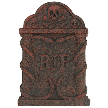 Amscan Halloween Decoration Spooky Snakes 22 in. x 14.5 in.  Foam Tombstone (2-Pack) Decor 190288](Tombstone Epitaphs For Halloween)