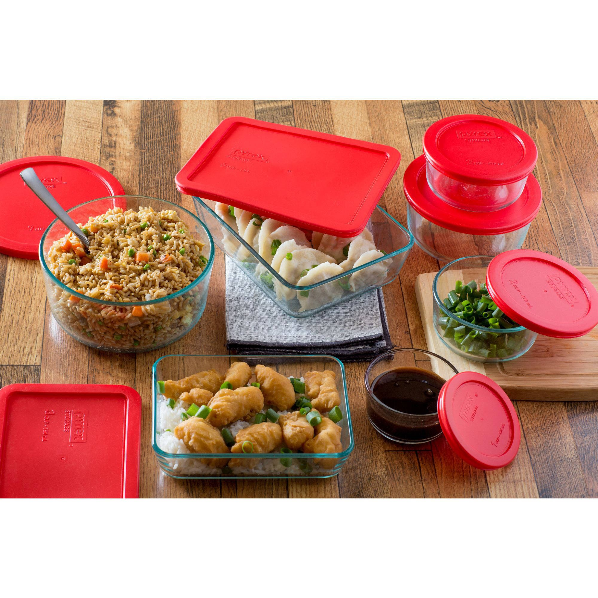 Pyrex 14-Piece Storage Plus Set