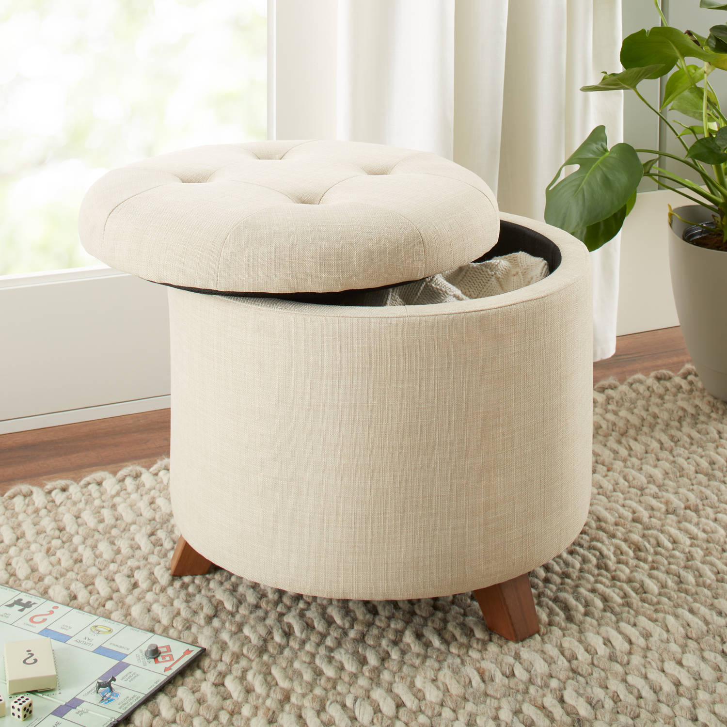 Better Homes & Gardens Colette Tufted Storage Ottoman, Multiple Colors by BDDMI
