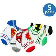 Justice League, Boys Socks, 5 Pack No Show Socks (Little Boys & Big Boys)
